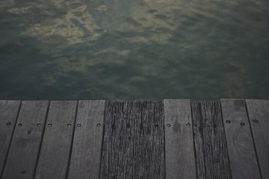abstract beach board dark empty fence landscape