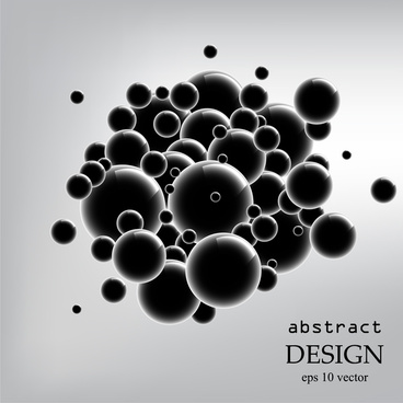 abstract black ball 3d background