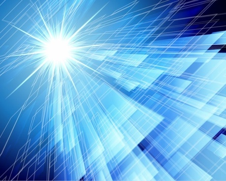 Abstract Blue Background in High-Tech