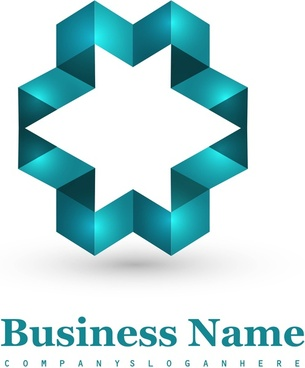 abstract blue business icon element vector illustration