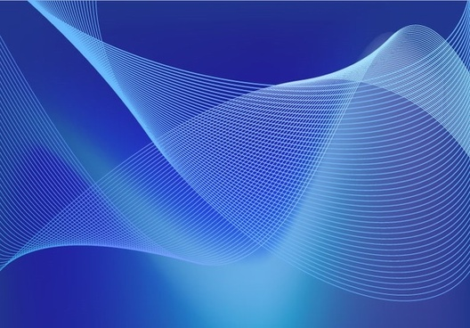 abstract blue business technology wave lines vector background