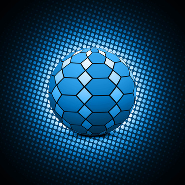 abstract blue color football vector artistic background