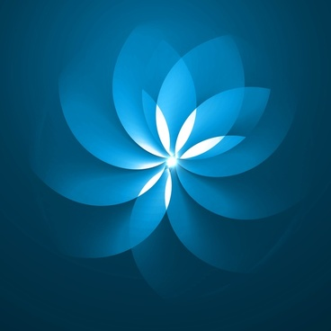 abstract blue colorful floral background vector