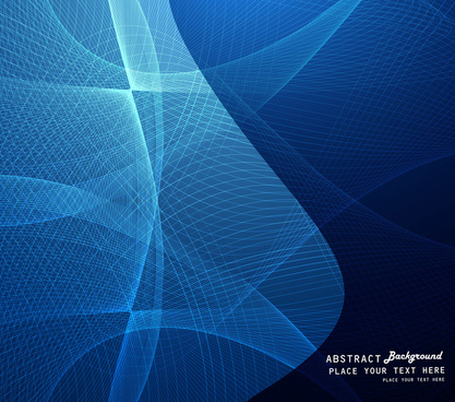 abstract blue colorful outline wave vector design