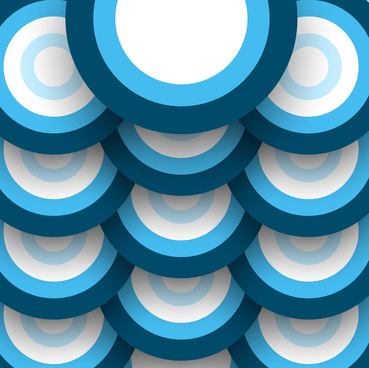 abstract blue colorful pattern circle bubbles background vector