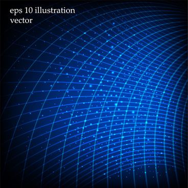 abstract blue curve grid background
