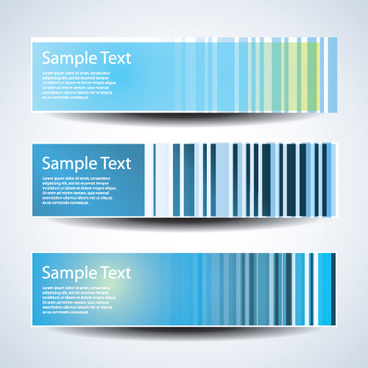 abstract blue header banners design vector set