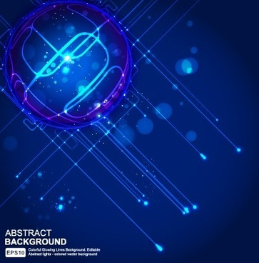 abstract blue light vector background art