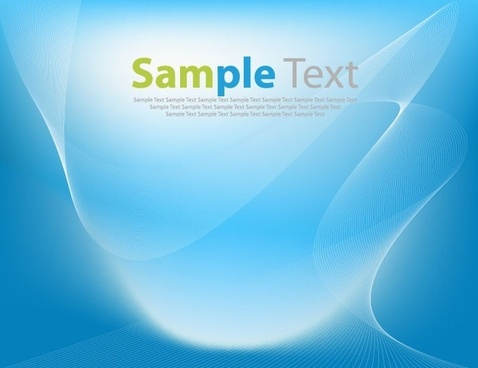 Abstract Blue Wave Art Vector