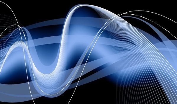 abstract blue waves background editable vector graphic