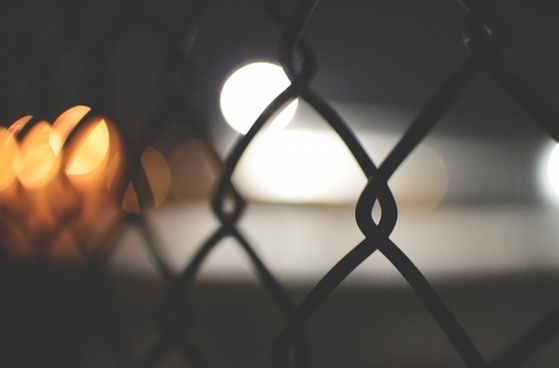abstract blur child city fence focus girl light