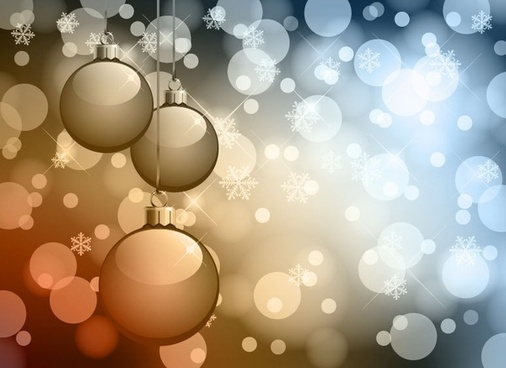 Abstract Bokeh Background Christmas Vector Graphic