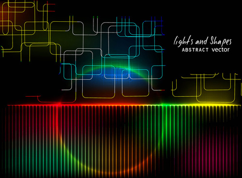 abstract bright colorful dynamic vector background