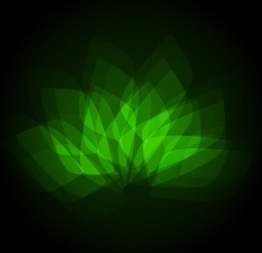 abstract bright green geometric flower vector illustration