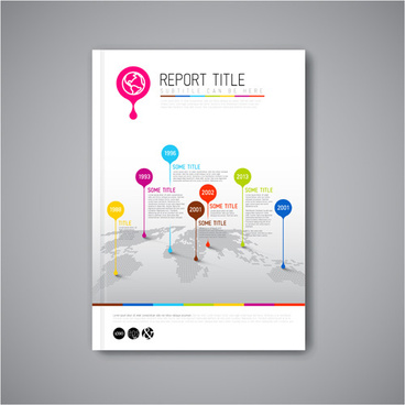 abstract brochure cover vecto template