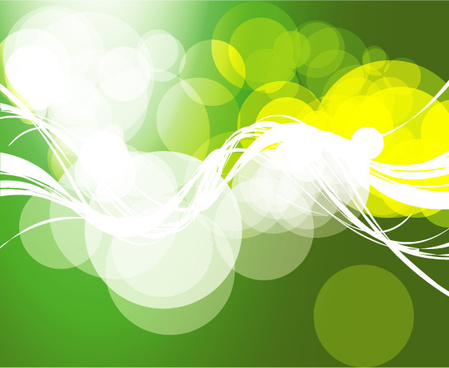 abstract bubbles green background