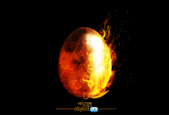 abstract burning fire egg