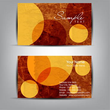 abstract business card templates