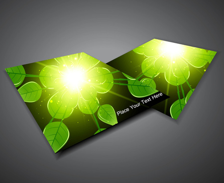 abstract business corporate brochure green lives vector illustration