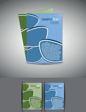 abstract business flyer cover template vector