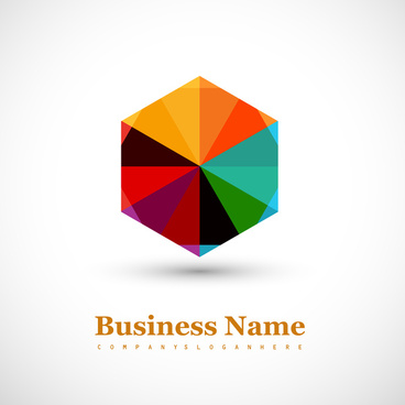 abstract business icon success colorful vector design