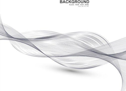 abstract business line wire wave vector whit background
