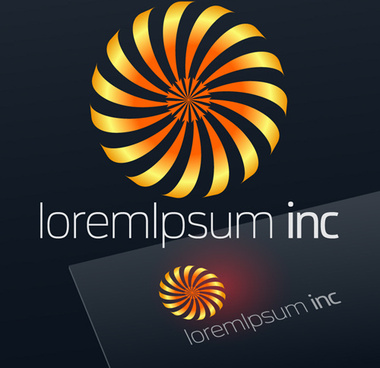 abstract business logos excellent design vector