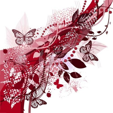 abstract butterflies moderin background vector