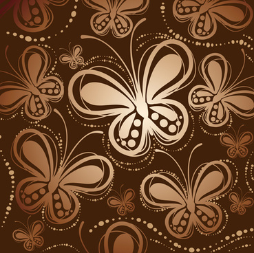 abstract butterfly pattern vector
