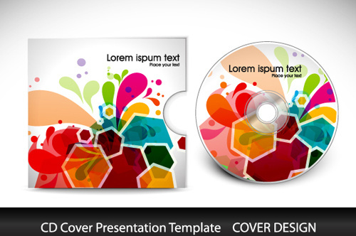 abstract cd cover presentation design vector