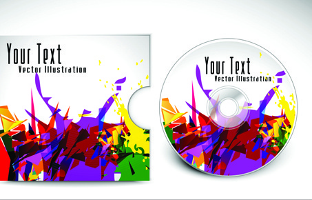 abstract cd cover vector background