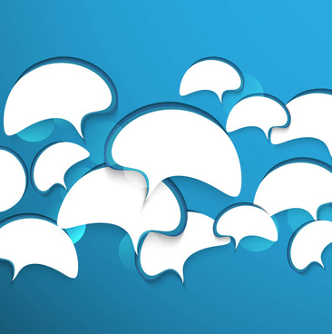 abstract chat bubbles in the shape blue colorful vector background