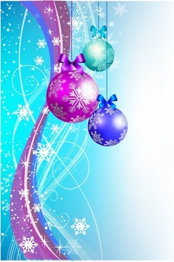 Abstract Christmas Background with Ornaments