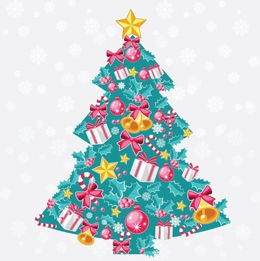 abstract christmas tree vector art - Free Christmas Images Clip Art