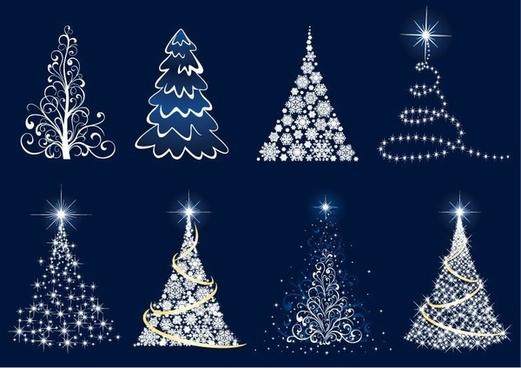 Abstract Christmas Tree Vector Set