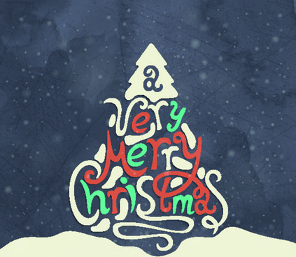 abstract christmas tree with retro background vector