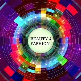 abstract circle colored background art