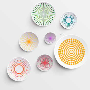 abstract circle decor
