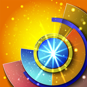 abstract circle shape design background