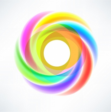 Abstract Circular Swirl Logo Design Element