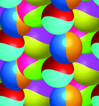abstract color ball vector background