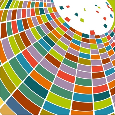 abstract color curved geometric background in 3d style
