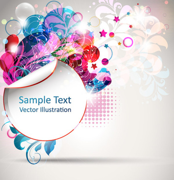 abstract color floral vector background illustration
