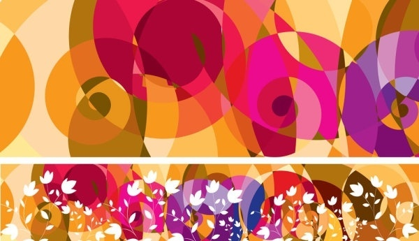 abstract color patterns 01 vector