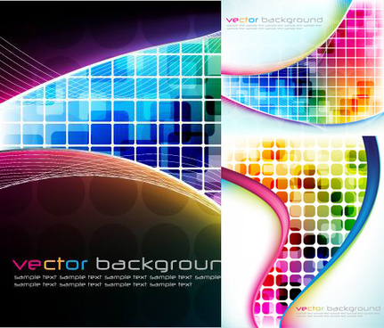 abstract colored box backgrounds vector graphic