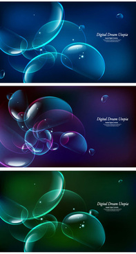 abstract colored bubble backgrounds vector
