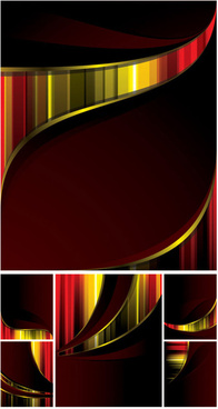 abstract colored card background vector