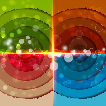 abstract colored circles on bokeh background