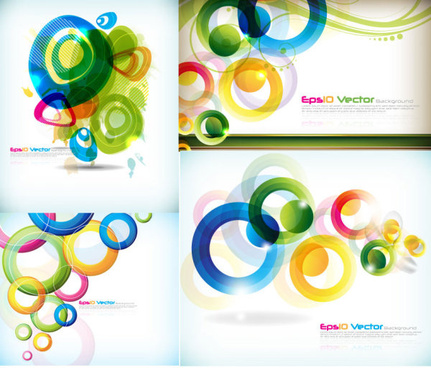 abstract colored circular pattern art vector