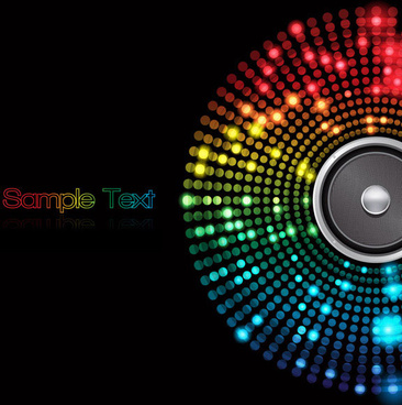 abstract colored dot background 5 vector art